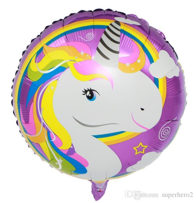 Unicorn flamingo artoon amnimal aluminium foil balloon wedding christmas party decorative balloons kids child birthday gift toy18 inch