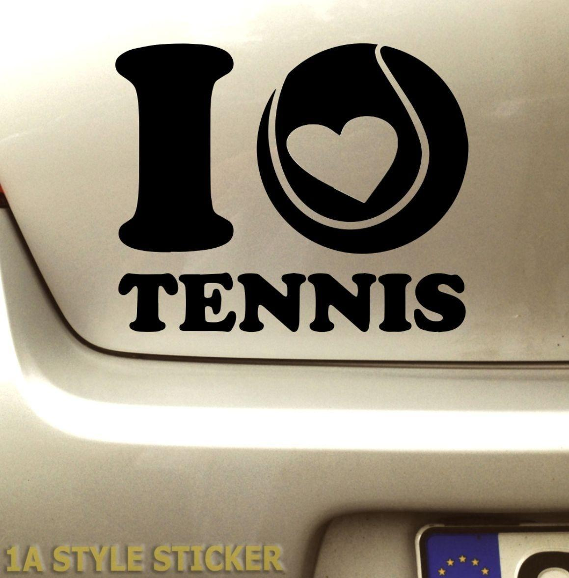 quality design 02148 67557 Car styling for i LOVE TENNIS Aufkleber Tennisschlager Tennisballe  Tennisbekleidung Tennis