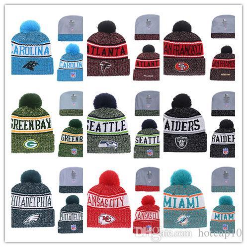 e8ea8dd7def75 Wholesale Football Winter Beanie Hats For Men Women Sports Team Knitted  Beanie Wool Hat Man Bonnet Gorros Touca Thicken Warm Cap Crazy Hats Mens  Beanies ...
