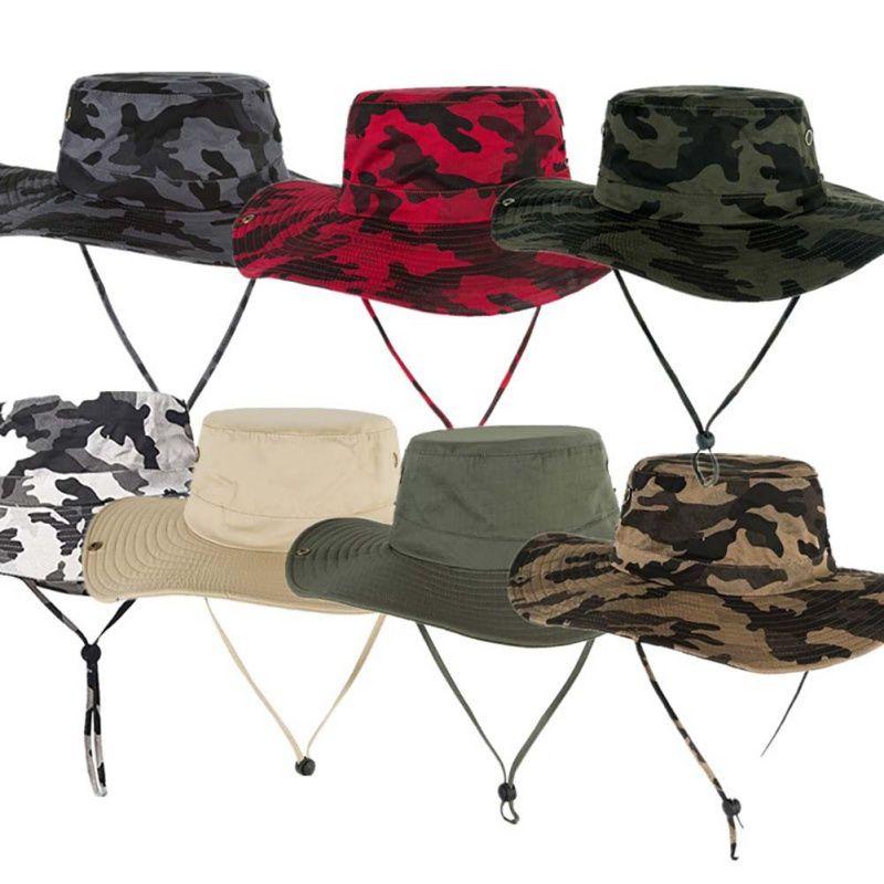 5bd907244 Hat Men Mesh Bucket Hat Women Summer Fishing Hiking Cap Wide Brim UV  Protection Flap Breathable Outdoor mountaineering hats