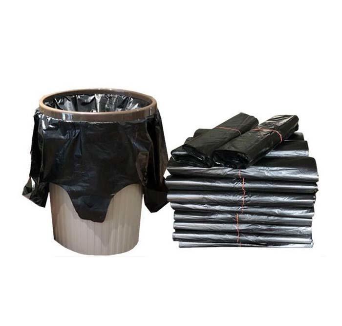 2019 52 32cm Black Garbage Bags Kitchen Drawstring Trash Bags