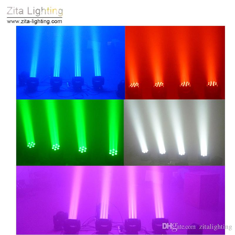 Zita Lighting Mini LED Moving Head Lights 7X15W Rotating Wash Stage Lighting RGBW Beam DMX 512 DJ Disco Party Event Effect