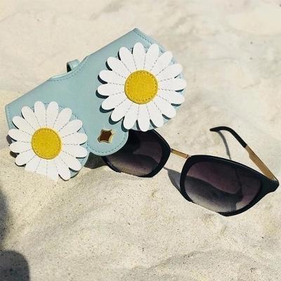 6bdbbe132259 2019 Sunglasses Case Women Soft Leather Sunglass Bag Protector ...