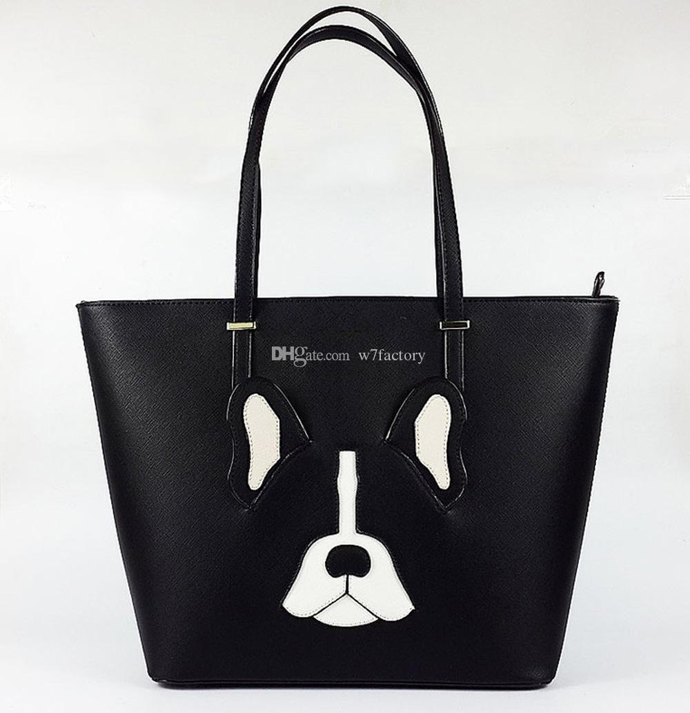 fcd27212770ea Französische Bulldogge Tasche Eimer Tasche Schulter Geldbörse Mode Taschen  Tote Bag Für Frauen