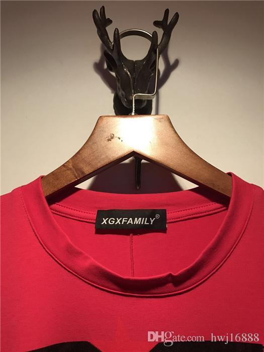 2018 Summer New Fashion brand Mens T Shirt T Shirt Mens Clothing Short Sleeve Casual Mens red Shark Notre Dame printing Top Tee