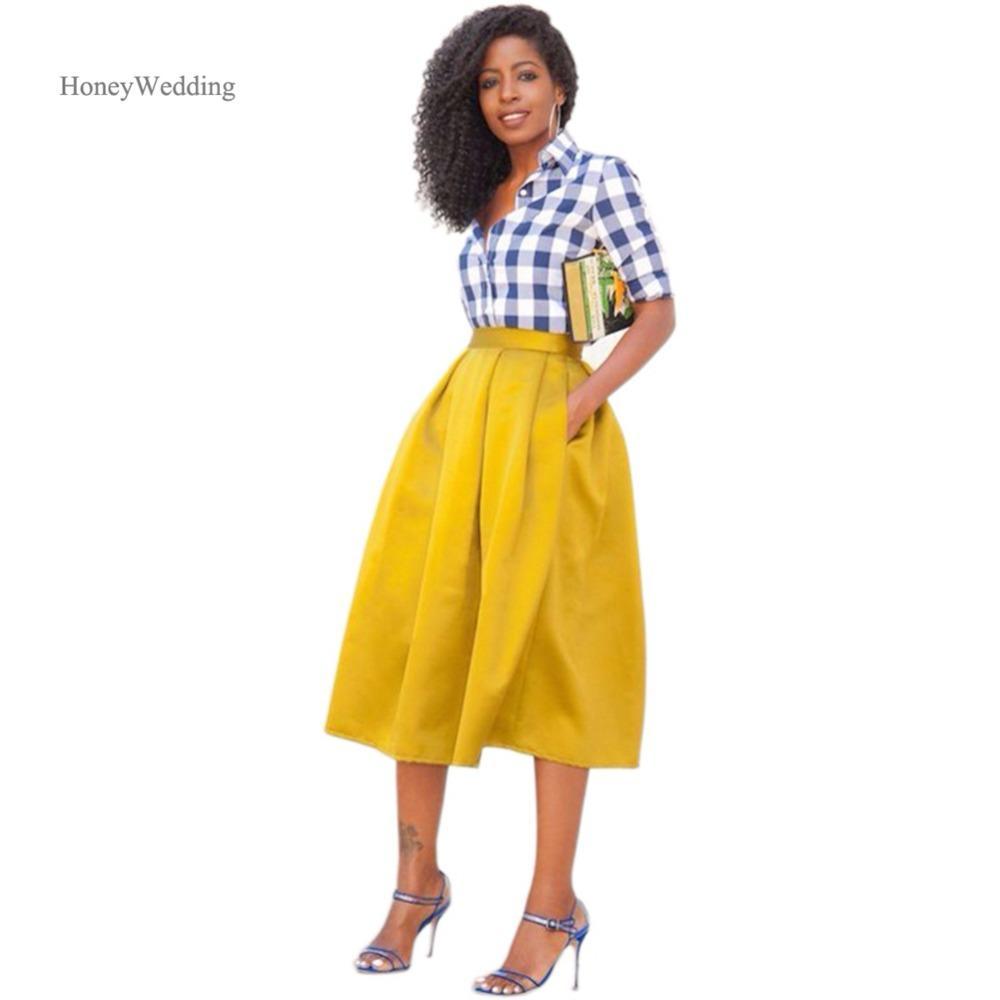 Compre 2018 Nuevo Estilo Rosa Puffy Faldas Largas Moda Mid Calf Por Encargo  Tulle Dama De Honor Prom Faldas Para Las Mujeres Elástico A  33.29 Del  Redbud06 ... 68d056517050