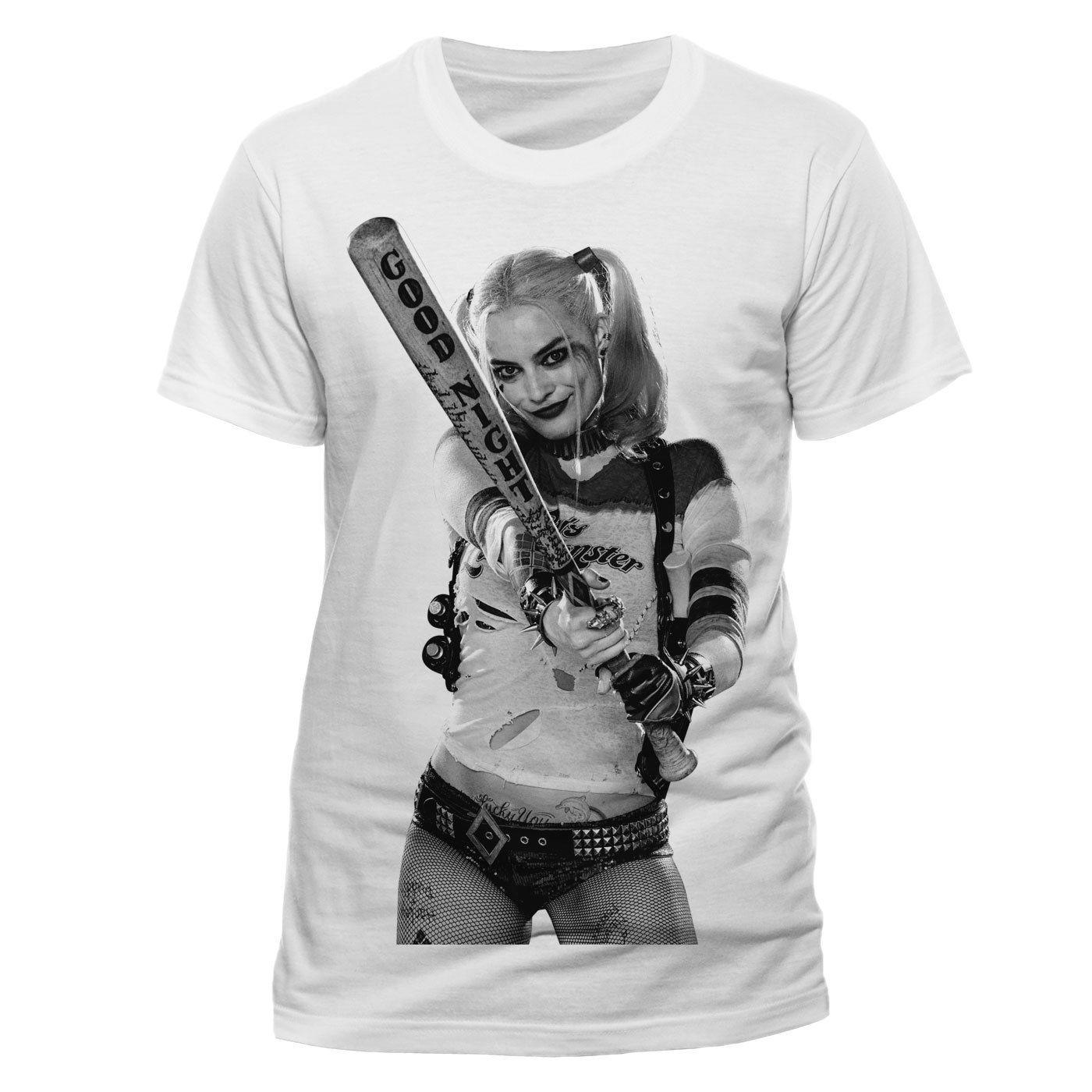 ee6ec794696f Official Suicide Squad Harley Quinn Bat T Shirt DC Comics Small XX Large  Cool Casual Pride T Shirt Men Crazy Shirt Designs A Shirt A Day From  Cls6688523, ...