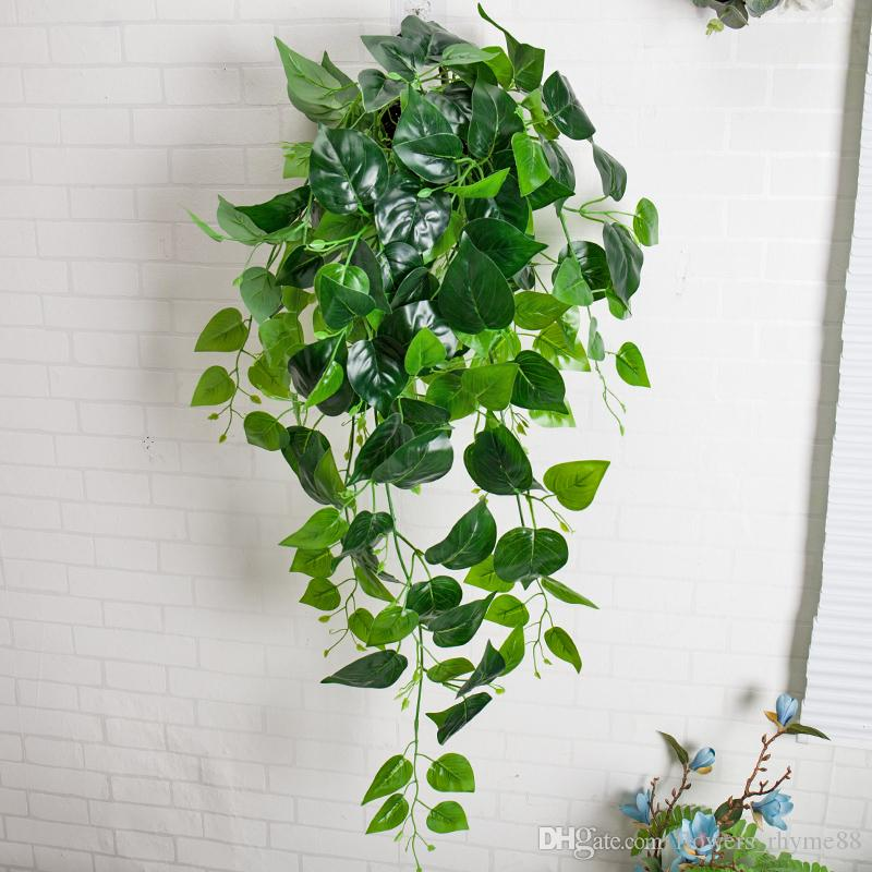 2019 Wall Decor Artificial Greenery Fake Plant Ivy Leaf Plastic