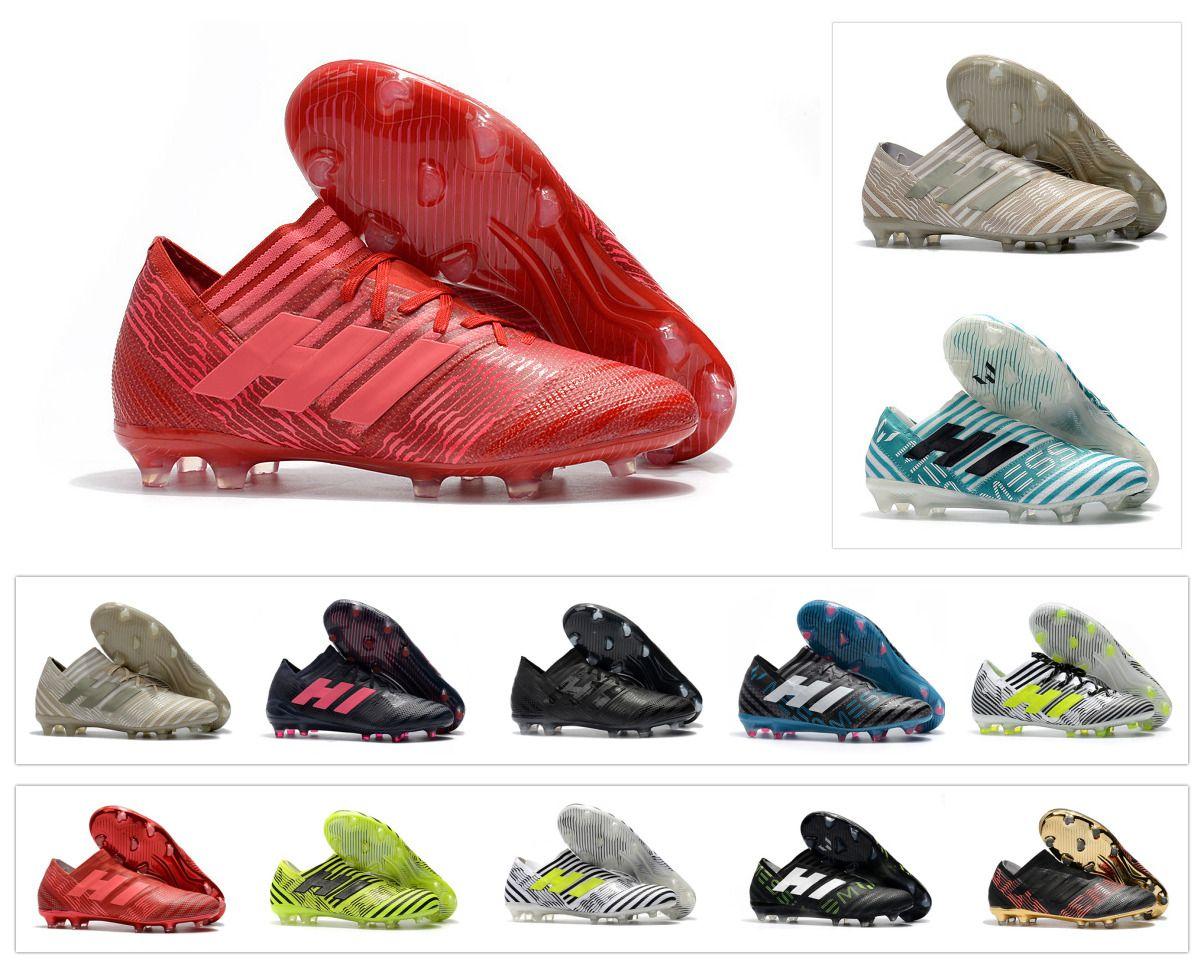 a5f53b2fe 2019 Mens Soccer Nemeziz 17+ 360 Agility FG Cleats Soccer Shoes Nemeziz  Messi 17.1 FG Tango Crampons De Football Boots Top Quality Cheap From  Themaxshoes