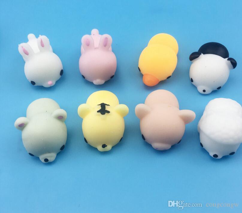 Squishy Slow Rising Jumbo Toy Bun Jouets Animaux Mignon Kawaii Squeeze Dessin Animé Jouet Mini Squishies Chat Squishiy Mode Animaux Rares Cadeaux Charms