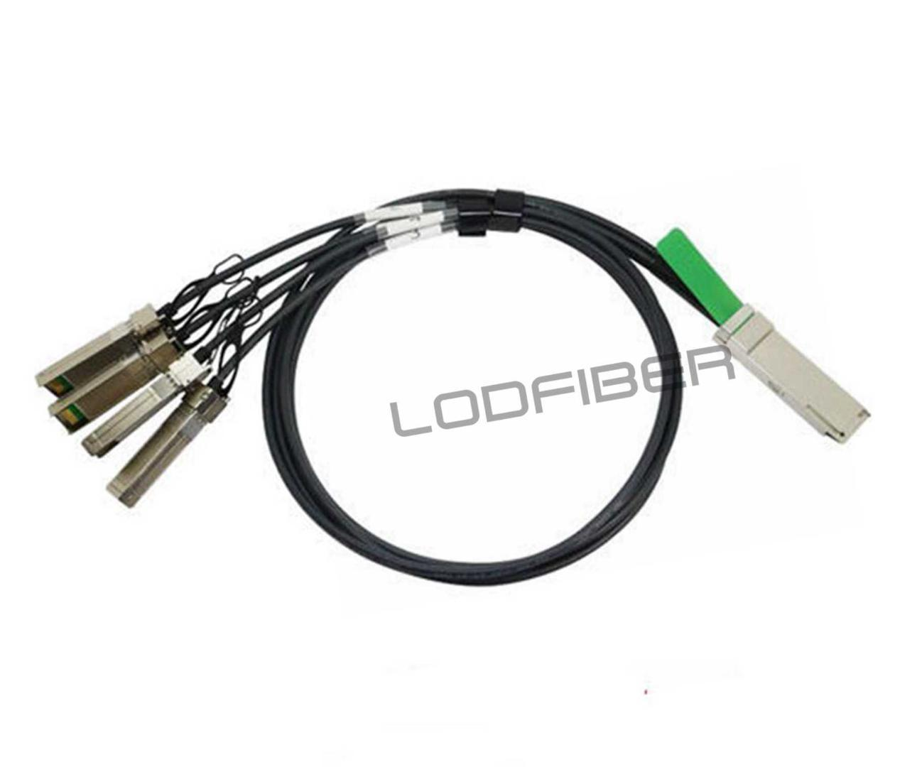 LODFIBER 2m (7ft) JNP-100G-4X25G-2M Compatible 100G QSFP28 to 4x25G SFP28  Passive Direct Attach Copper Breakout Cable