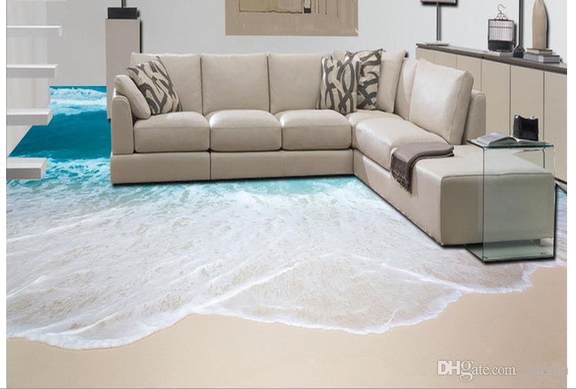 Fußboden Osb Xiaomi ~ D fußboden meer beibehang custom boden tapete strand meer