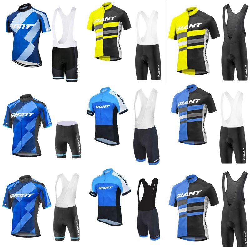 2018 Men Cycling Jersey Set Giant Bike Clothing Ropa Ciclismo Short ... f60e8f17b