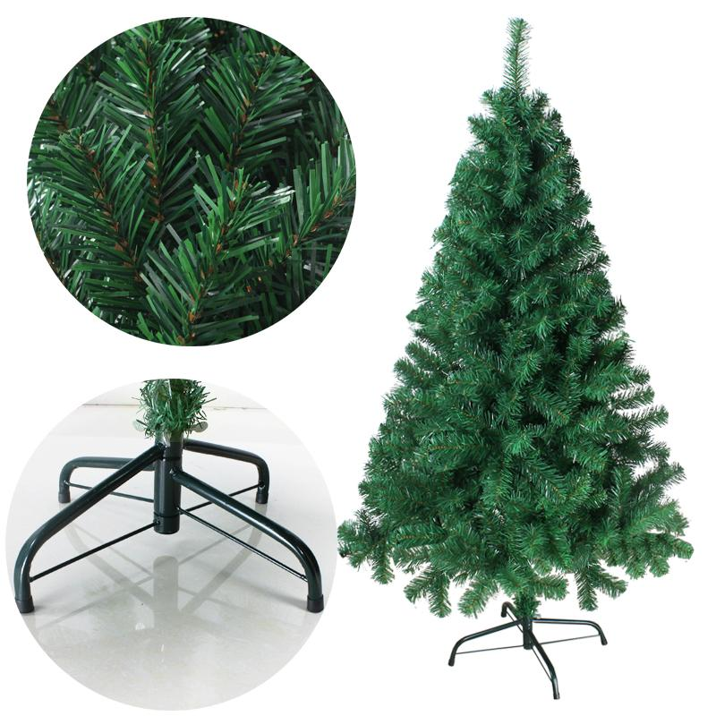 180cm Encryption Christmas Tree With Green Leaves Iron Tripod Christmas Decorations New Year For Home 6 Ft Artificial Tree 2018 Holiday Christmas Window
