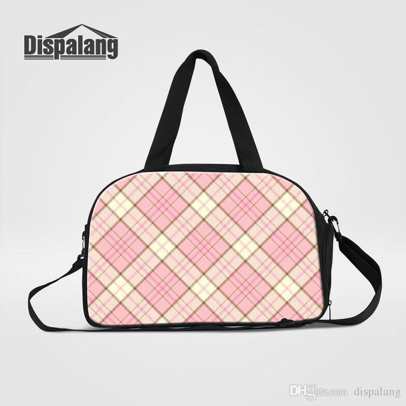 Plaid Pattern Women Messenger Duffle Bags Canvas Travel Bag For Students  Overnight Crossbody Bag For Traveling Luggage Handbags Weekend Bags Travel  Bag ... cd462d76567f2