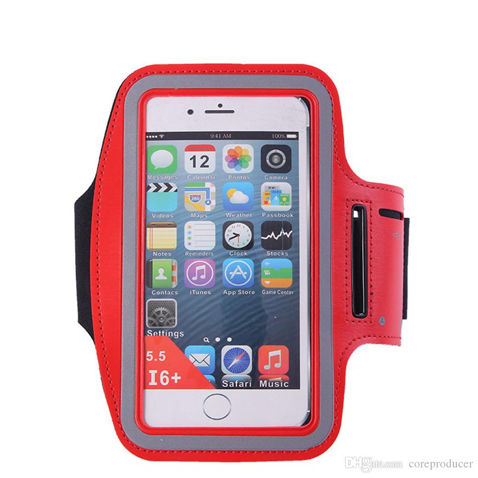 cheap for discount 05cad 6cc91 Waterproof Sports Running Gym Armband Case Exercise Arm Band Neoprene Strap  Jogging Fitness Smart Phone Cover Holder Pouch For iPhone Galaxy