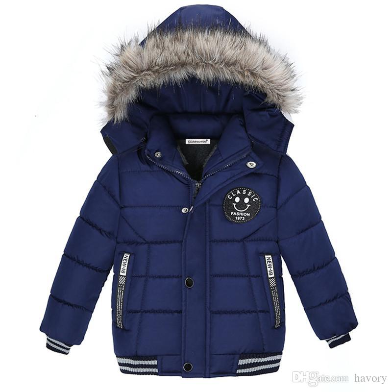 1134fd262 2018 New Baby Winter Coat Kids Warm Winter Outerwear Hooded Fashion ...