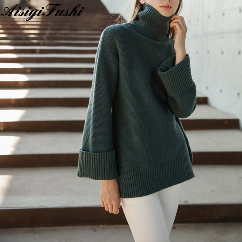 4363bee77a3d1 Women's Turtleneck Sweater For Women Harajuku Knitted Oversized Sweaters  Female Womens Winter Jumper Warm Vintage Baggy Sweater