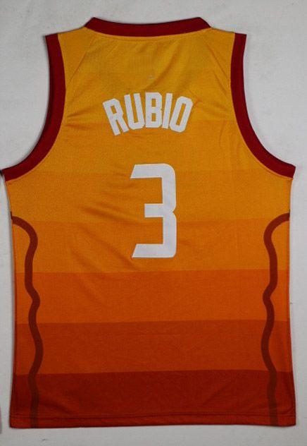 sale retailer 204cb 01c49 2018 New City Men Swingman Jersey 3 Ricky Rubio Stitched College Jersey