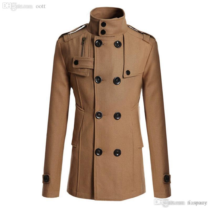 00c6119b3 Fall-High Quality 2015 Men 's Dust Coat Mens Overcoat Winter Men' S ...