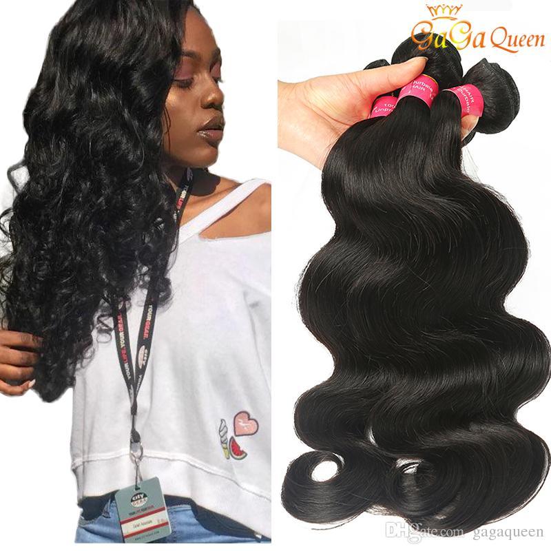 8a Brazilian Virgin Hair Body Wave Hair Extensions 4 Bundles 100