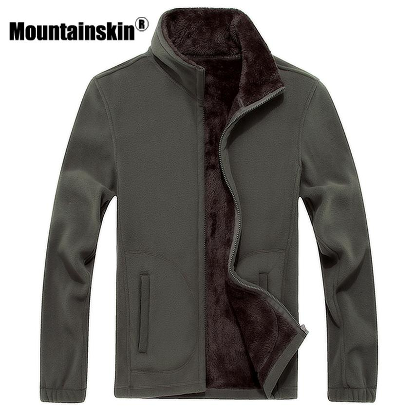Compre Mountainskin 6xl 8xl Mens Softshell Velo Jaquetas Casuais Homens  Moletom Quente Casacos Térmicos Sólidos Engrossado Roupas De Marca Sa041  Y18103002 ... e80ed81b589a9