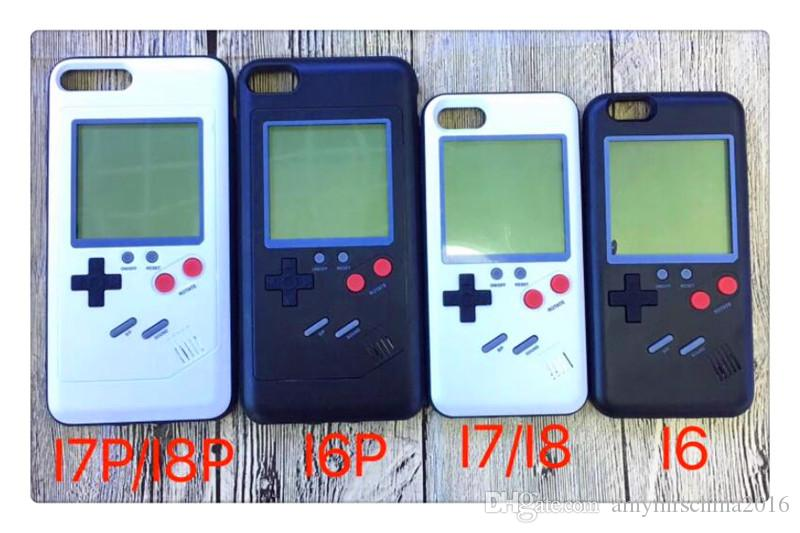 Gameboy Tetris Phone Cases Play Blokus Game Console Cover TPU Shockproof Protection Case For Iphone 6 6s 7 8 Plus Retail package