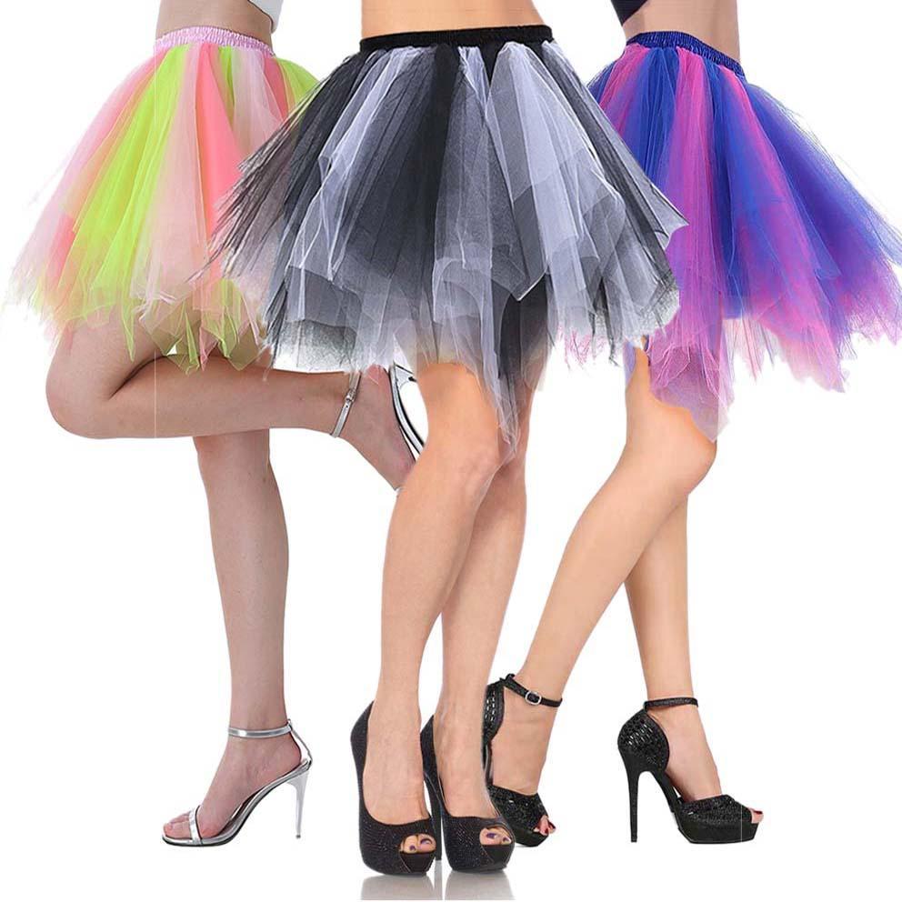 260adcc40c73ba Großhandel Frauen Der 1950er Jahre Vintage Petticoat Bubble Tutu Tanz Rock  Erwachsenen Kurzen Tüll Rock Crinolines Flauschigen Unterrock Von Lookpack,  ...