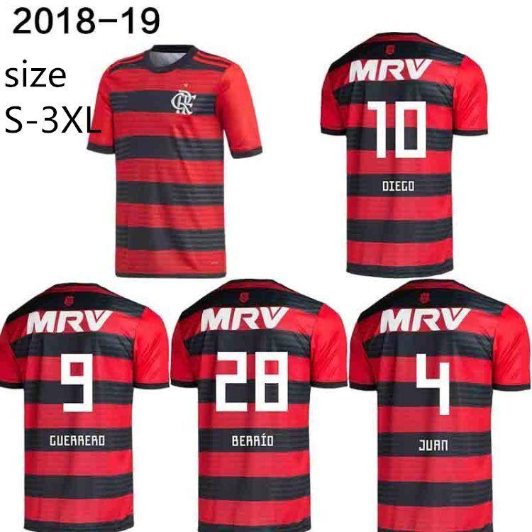 2019 2018 19 Flamengo JERSEY 18 19 Flamenco Jersey Third HOME DIEGO 35  E.RIBEIRO 7 GUERRERO 9 VINICIUS JR 20 Flamengo Football Shirts Football  From ... 96f5788bb