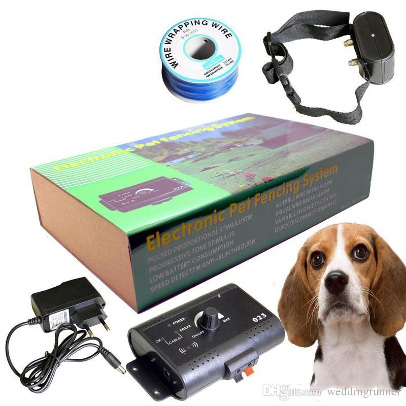 For 2 dogs Electronic Pet Fencing System Dog Training Collars Remote Control Dog Electronic Fence Smart Dog Trainer Collar pet tool supplies
