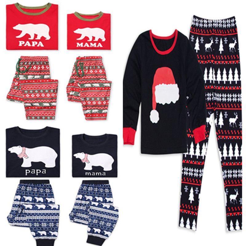 family christmas pajamas papa mama child matching santa dear xmas tree snowflakes elk print pyjamas fall outfit sleep homewear set nightwear funny adult