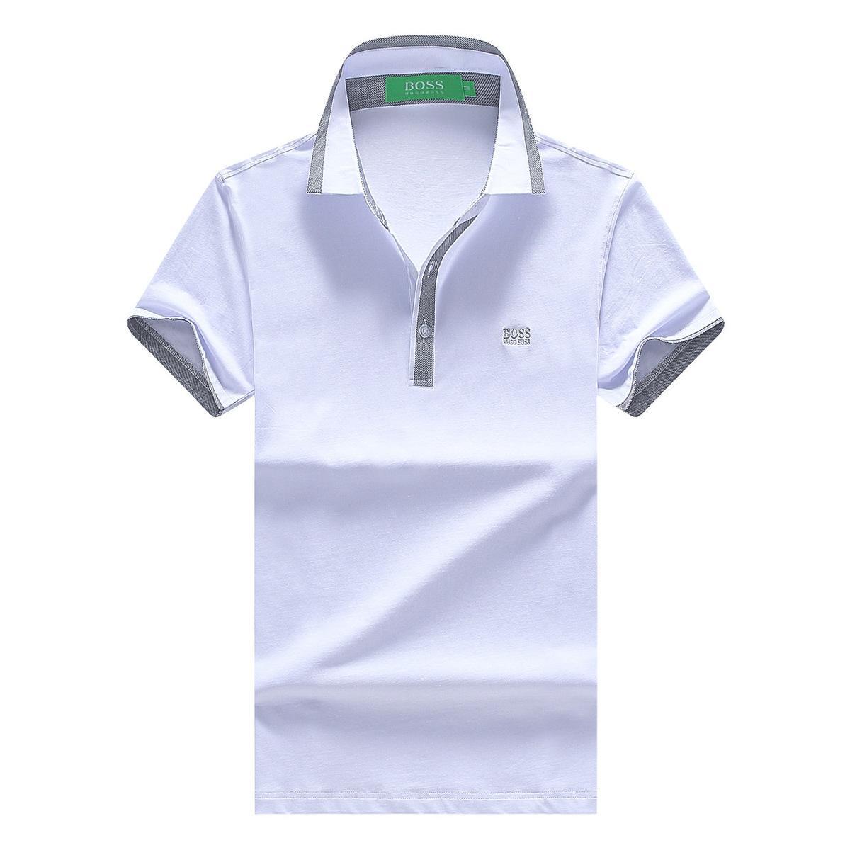 Urban Fashion Youth Concise Men s Lapel Pure Cotton Short Sleeve T ... ec9be2bd94