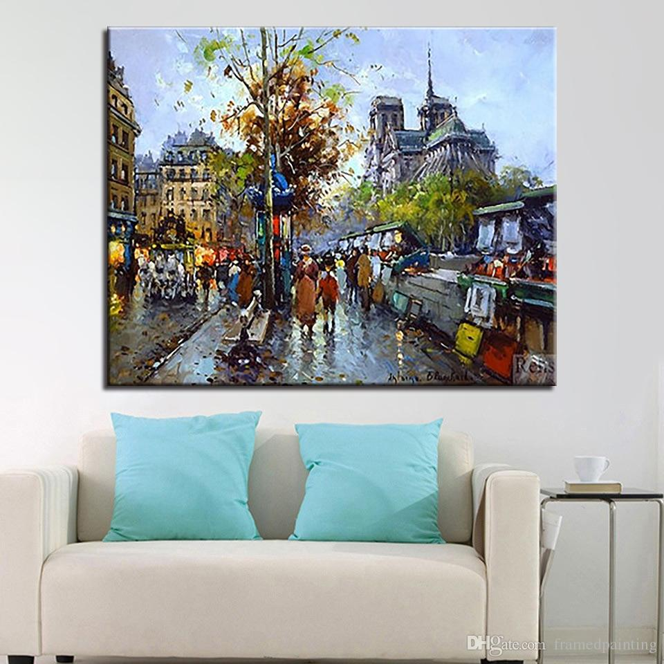 DIY Oil Painting By Numbers Kits Digit HandPainted Europe City Streetscape Canvas Pictures Unique Gifts Home Decor Wall Artwork