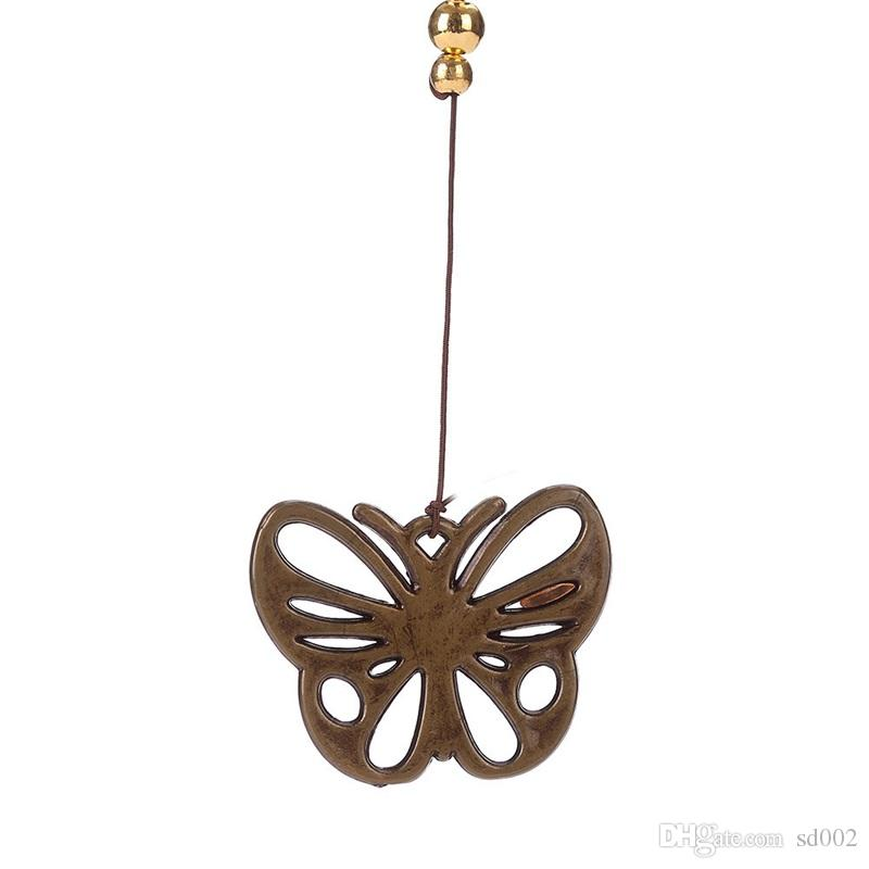 Classical Bronze Butterfly Wind Chimes with Small Bells Yard for Garden Outdoor Living Room Hanging Decoration Novelty Items 6 5bz X