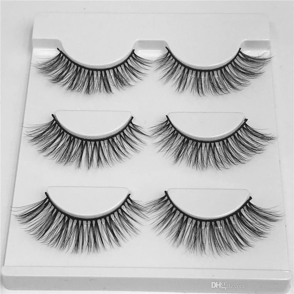257a9db4f3c 3D Natural Bushy Cross False Eyelashes Charm Handmade Fake Eye Lashes  Makeup 3DM02 Eyebrow Tint Eyelash Extension From Lulu_cosmetics, $1.63|  DHgate.Com