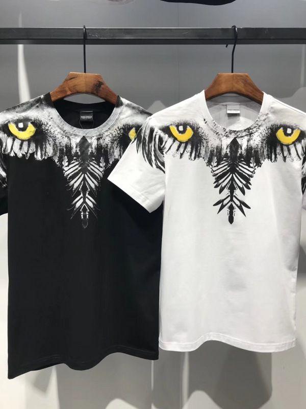 Acquista Nuovo Marchio Marcelo Burlon T Shirt Uomo Eagle Eyes Camicie Wing Stampa  MB T Shirt Manica Corta Tee Burlon Uomo Hip Hop Gufo Maglietta Estate ... 218b8b40f75f