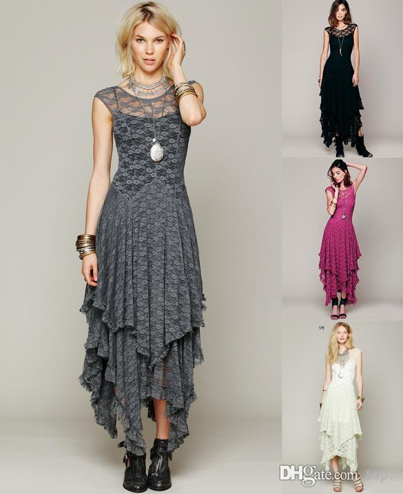 2f79618f4 Compre 2018 Vestidos De Las Mujeres Hollow Full Lace Party Evening Casual  Prom Elegante Maxi Delgado Largo Sheer Ball Gown Summer Beach Dress Para  Mujeres A ...