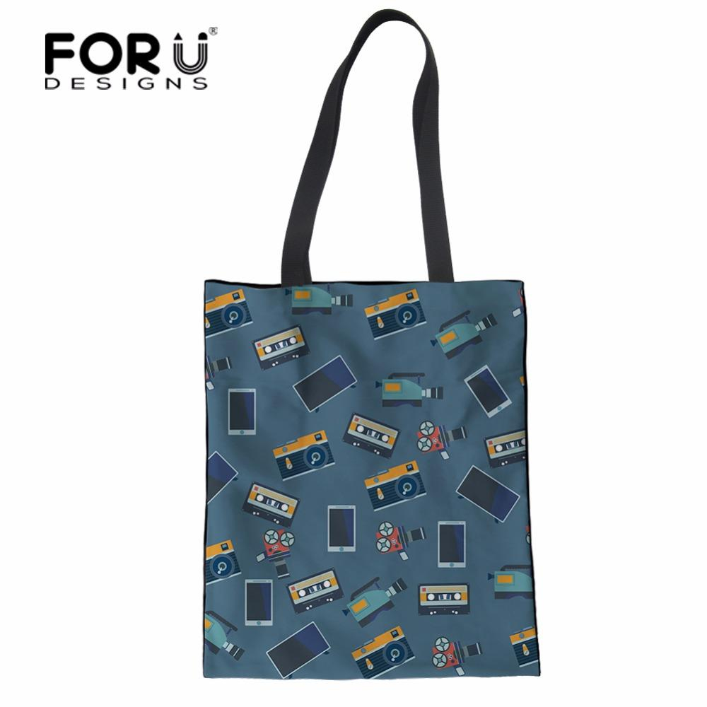 67fd6c1f2992 FORUDESIGNS Eco Friendly Coon Canvas Shopping Bags School Books Bag Women Shoulder  Bag Foldable Reusable Tote Hand Bags Overnight Bags Black Bags From ...
