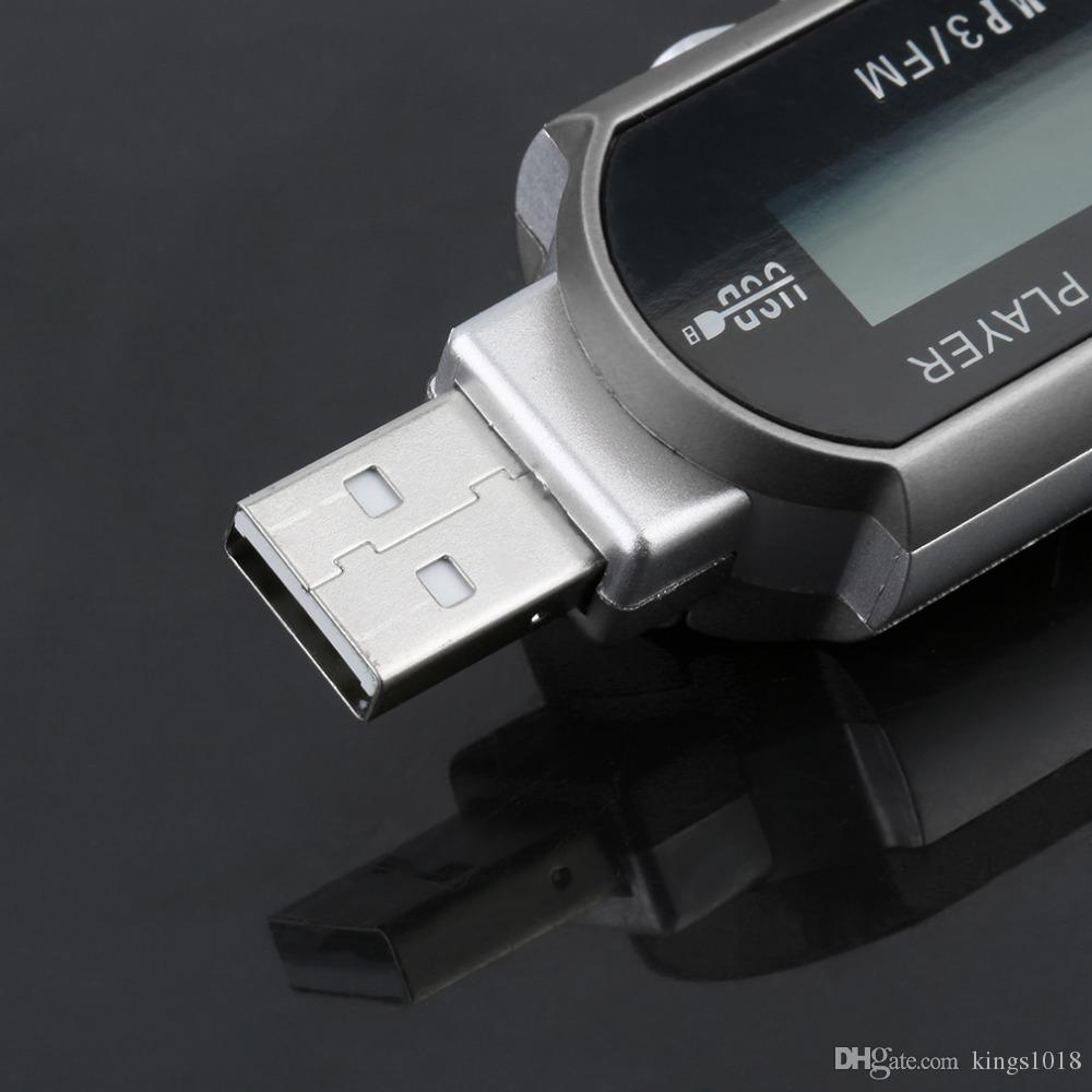 Novo Mini USB 2.0 Flash Drive de Alta Velocidade de Transferência de Display LCD MP3 Player de Música Backlight em LCD Fornecer Display Claro 3 Cores