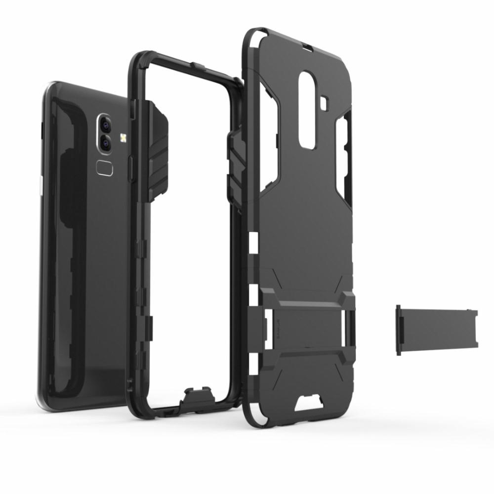 new products 75f1d 9b69d For Samsung J8 2018 Case Silicone Armor Hybrid Hard PC TPU Cover for  Samsung Galaxy J8 2018 buiness style back cover bags