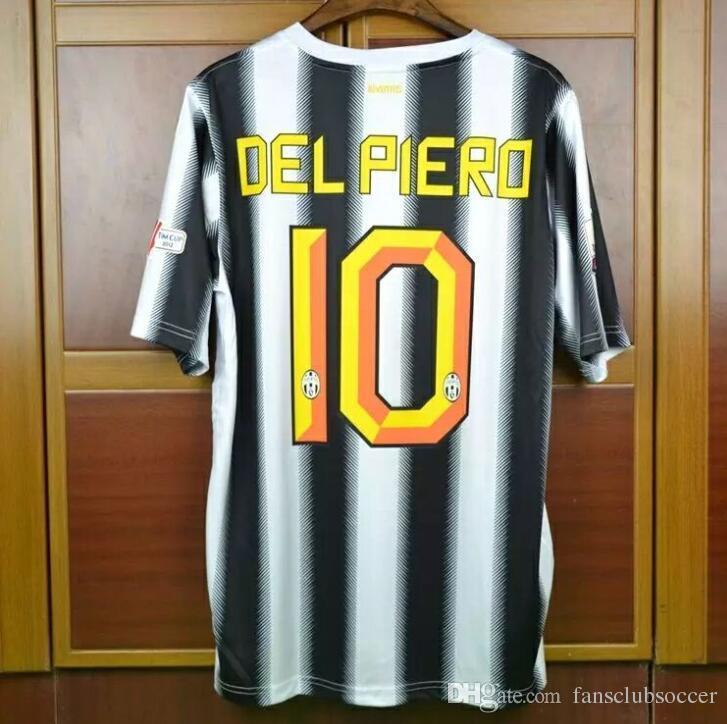 eb1cdd8d3 Retro jerseys 2011 2012  10 Del piero jersey shirt coat 11 12 Italy Italia  Calcio MAGLIA Pirlo
