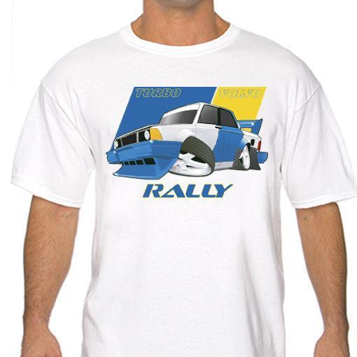 Funny Volvo 240 Turbo Rally T Shirt White Or Gray S To 3xl Racing Drifting Wrc