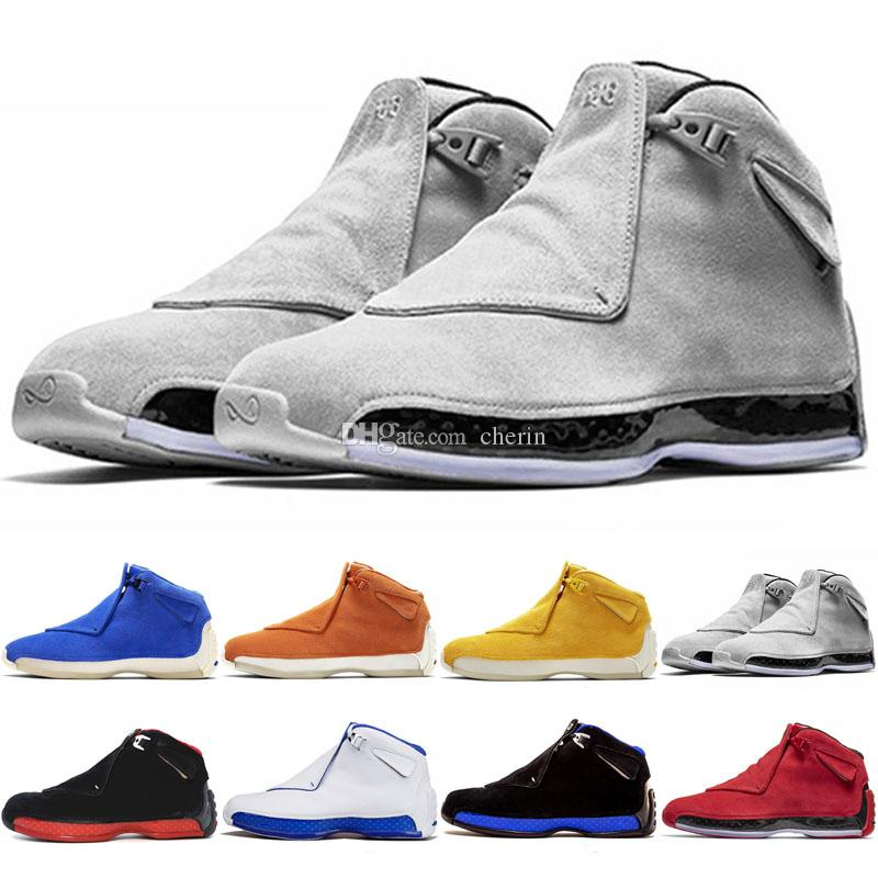 7eaee1b6351f Men 18 18s Toro Basketball Sport Shoes Red Suede Yellow Orange Blue Royal  Cool Grey OG CDP Trainer Athletic Sneakers 41 47 Shoes Sports Sports Shoes  For ...