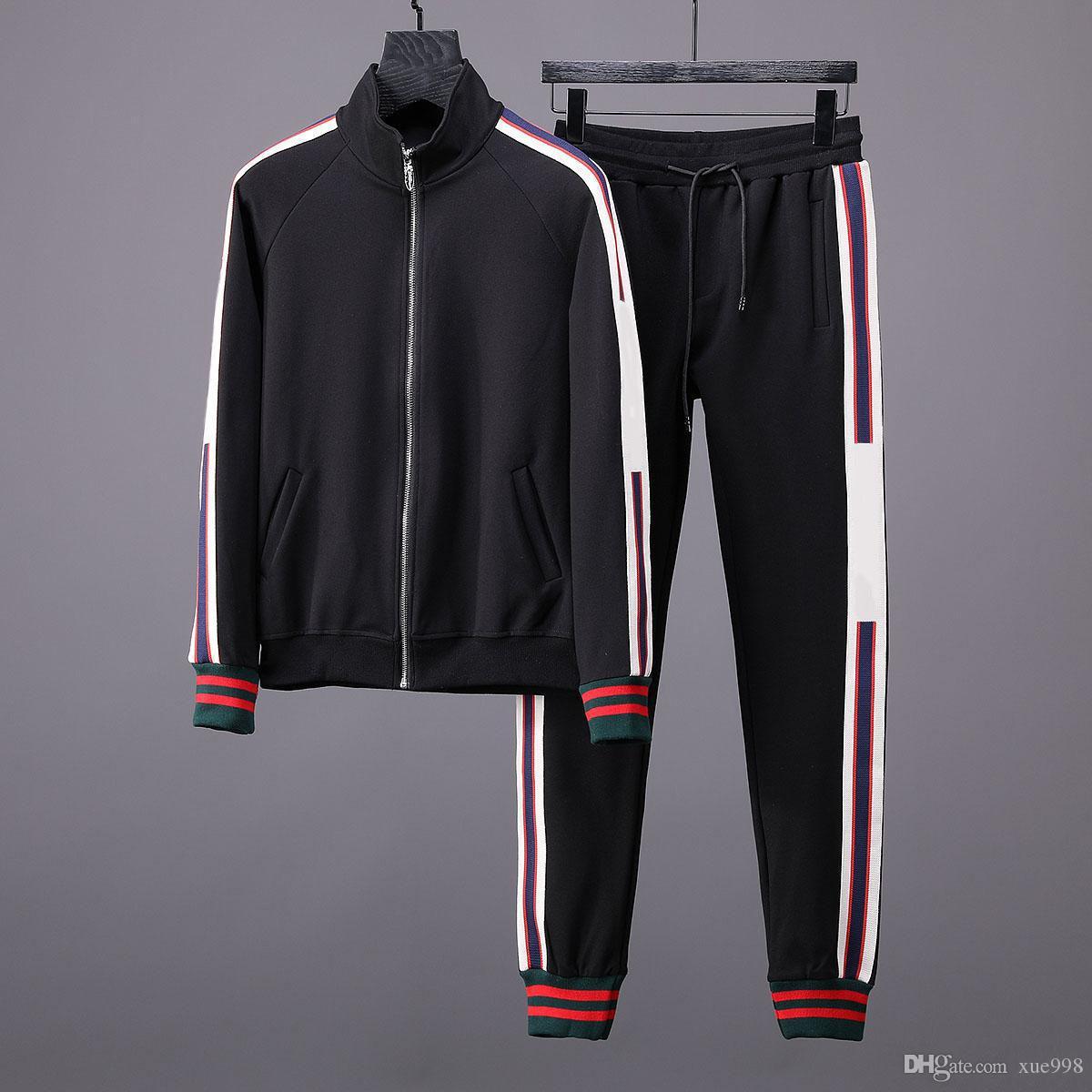 Compre Ropa Deportiva Para Hombres Calientes Pantalones Y Chaquetas Otoño  Invierno Nuevo Conjunto Deportivo Para Correr Conjunto Deportivo Para Hombre  ... b46a6bfa1cb