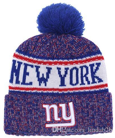 d7daeadca41 2019 2019 American City All Team Giants Beanies NY Sports Pom Hat Men Women  Sideline Cold Weather Reverse Knit Hat Official Graphite Black Cap From  Lindab2b ...