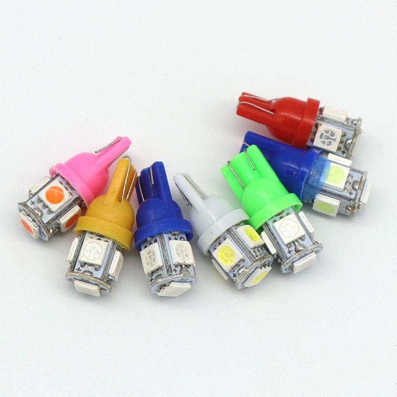 T10 LED W5W 5050 5SMD 192 168 194 백색 가벼운 LED 가벼운 쐐기 램프 전구 최고 밝은 DC 12V 번호판 빛 DRL