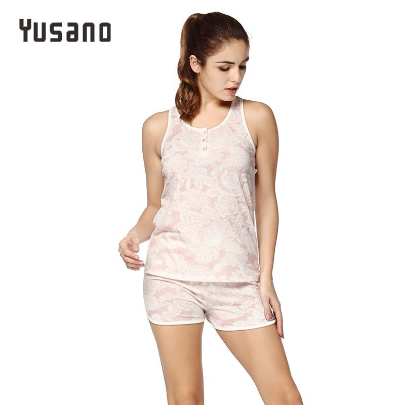 6e1a25ce1d Yusano Women S Sexy Pajamas Sets Shorts Sleeping Wear Pijamas For Women  Sleeveless Pyjama Nightwear Button Front Short Pants Sexy Satin Pajamas  Sexy Silk ...