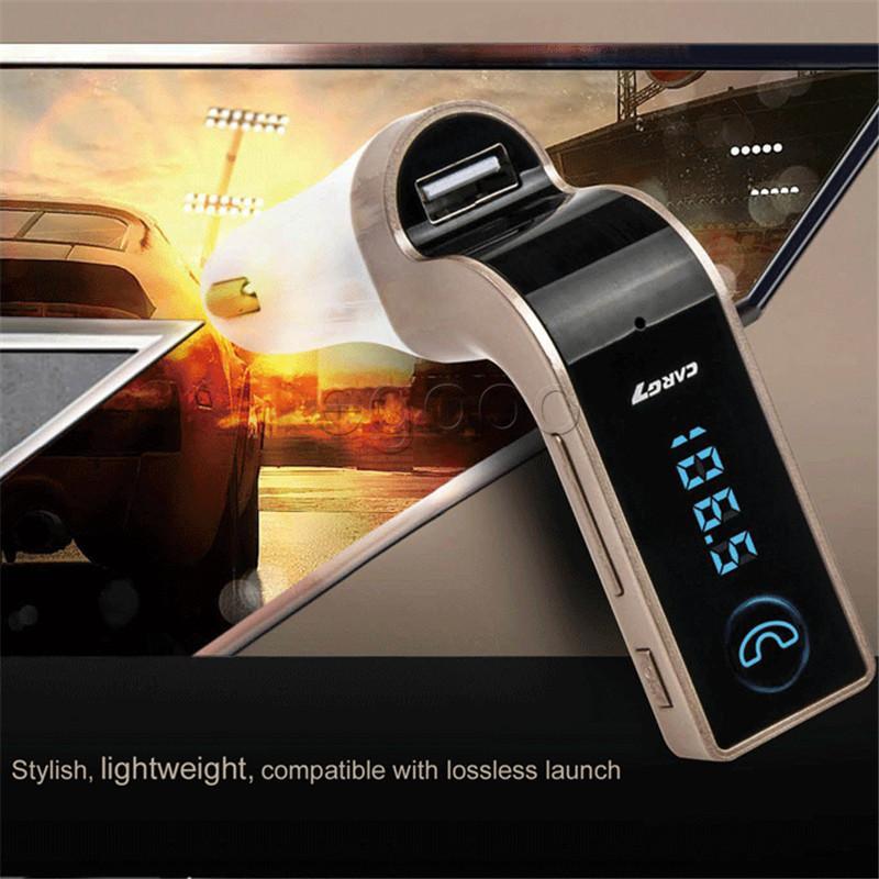 4-In-1 G7-Freisprecheinrichtung USB-MP3-drahtloses Auto-FM Bluetooth Mini FM Transmitter Auto Kit MP3-Player LCD-Auto-Zubehör