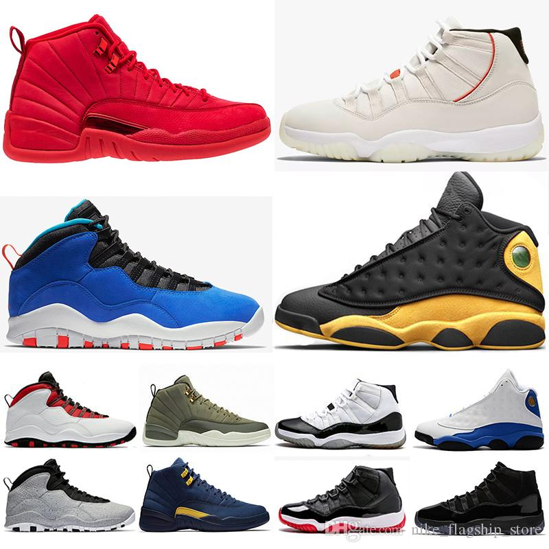 12 12s Gym Red Basketball Shoes Tinker 10s Platinum Tint 11s Cap And ...