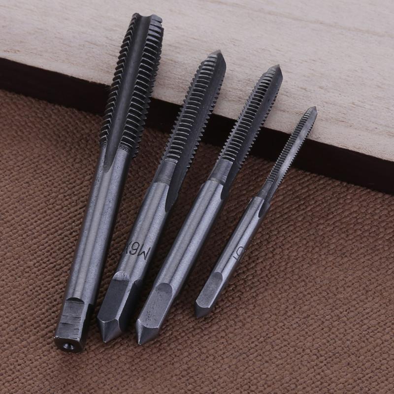 6шт. T-type Machine Ручной винт Кран-гаечный ключ Метчик для штамповки DIY Tool M3 / M4 / M5 / M6 / M8 Прямой рифленый винт с резьбой Метрическая пробка Метчик